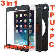 360 degree Rotate Holding TPU PC Case for ipad pro air mini
