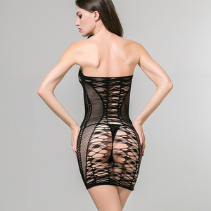 Stunning quality seamless shiny bodystocking fishnet lingerie