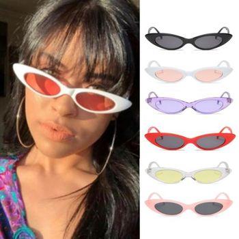 Vintage cat eye lunettes de soleil femmes rétro petit cadre bijoux de mode UV400  lunettes 2018 a9730a36d4c2