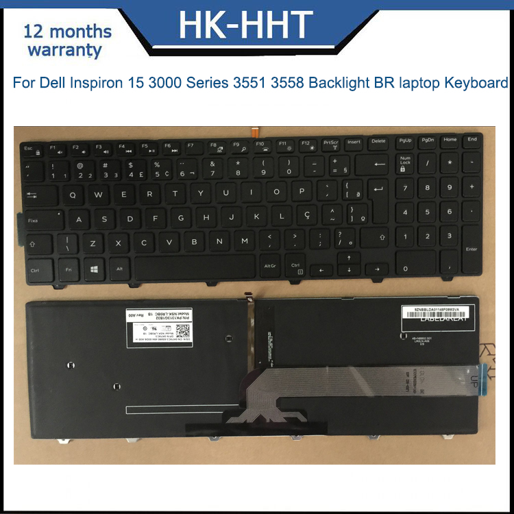 Br Brazil Keyboard For Dell Inspiron 15 3000 With Backlight Keyboard  Teclado - Buy Br Brazil Keyboard For Dell Inspiron 15 3000 With Backlight