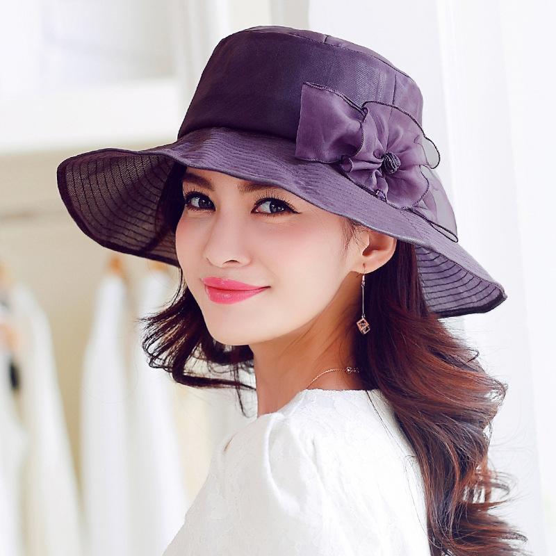 100 authentique marque de soleil d 39 t chapeau femme cor enne chapeau large rebord uv pliant. Black Bedroom Furniture Sets. Home Design Ideas