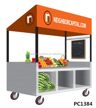 Street Sales Metal Booth Fast Food Kiosk Outdoor Vegetable Display Stands  Sales