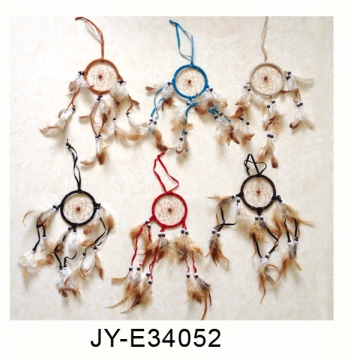 Original Handmade Wind Chime dreamcatcher With Feathers Hanging