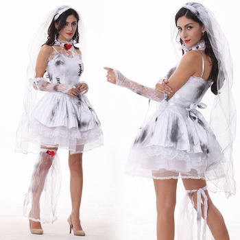 Dead Bride Halloween Costume.Onen Ghost Dead Bride Zombie Witch Princess Fancy Dress Halloween Costume Buy Black Fancy Dress Costumes Halloween Costume Zombie Costume Product On