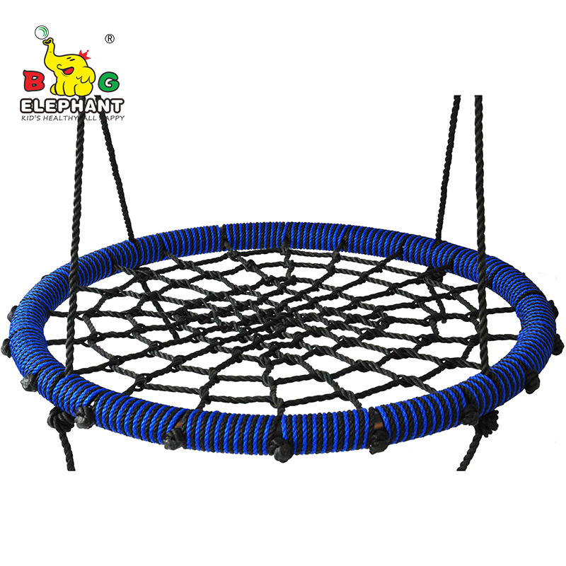 80cm Fully Assemble Saucer Spinning Outdoor Tree Round Rope Web Swing