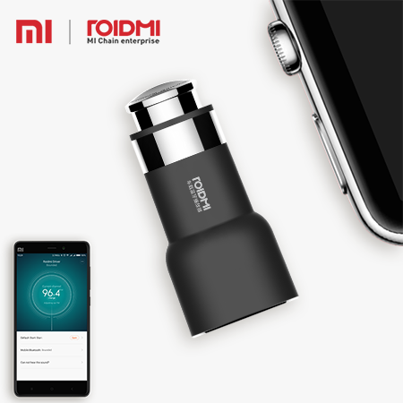 Xiaomi Roidmi 2s Multifunction FM transmitter Music Bluetooth Handsfree call USB Mobile 3 in 1 car charger