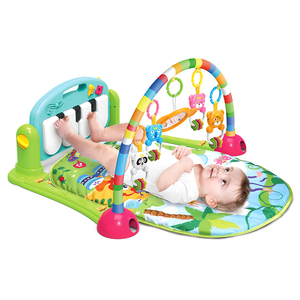 Kick And Play Musical Piano Infant Toddler Baby Care Activity Gym Playmat Playing Play Mat with Light