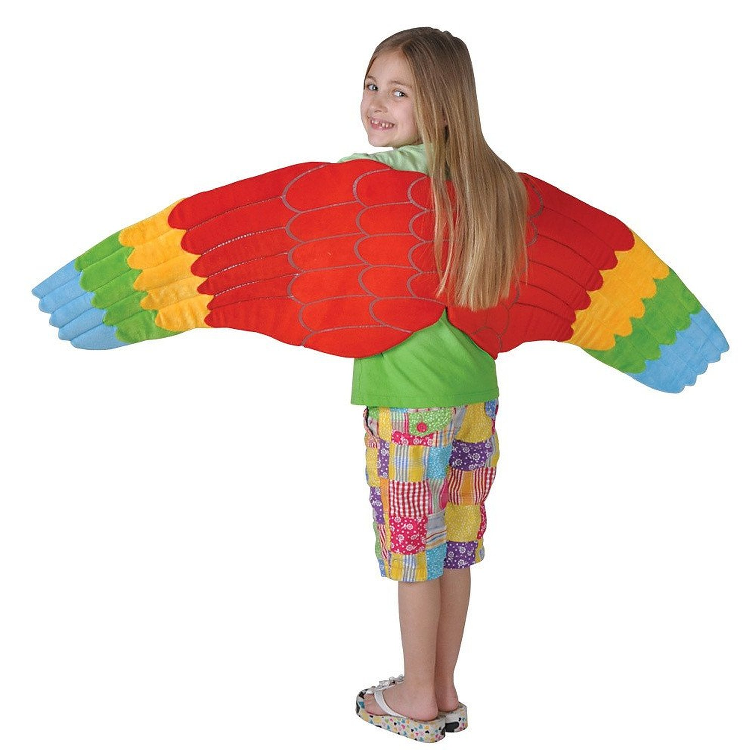 Mens Womens Polly the Parrot Costume Bird Fancy Dress Funny Mascot Zoo Party
