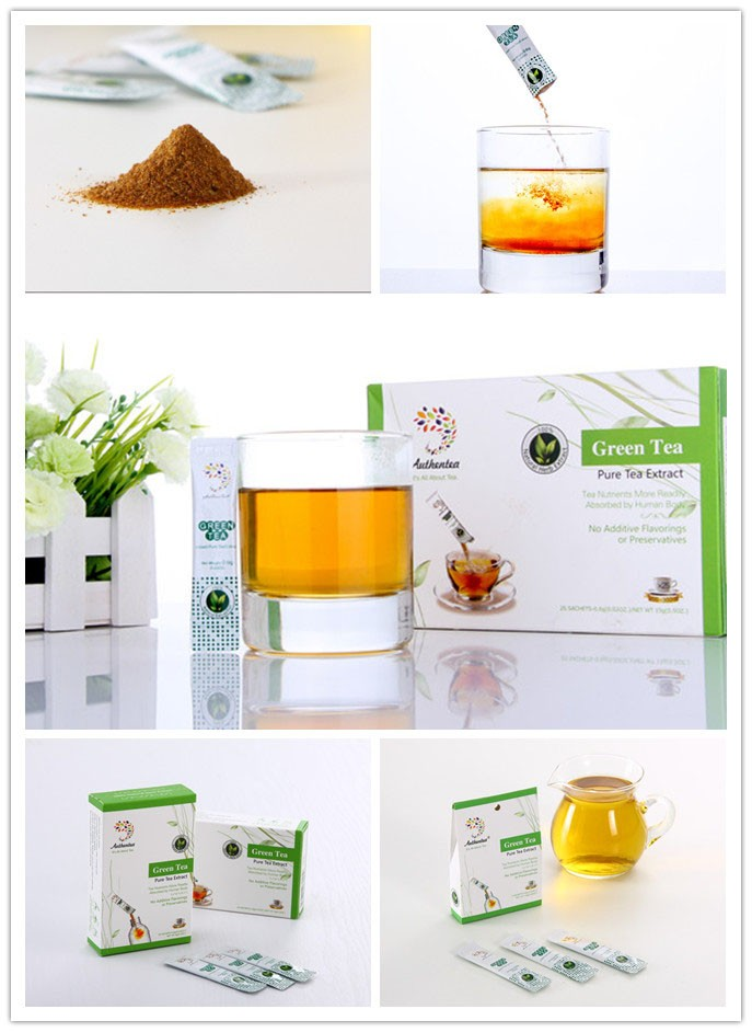 Easy to Drink Organic Instant Green Tea Extract Replace Loose Leaf Tea
