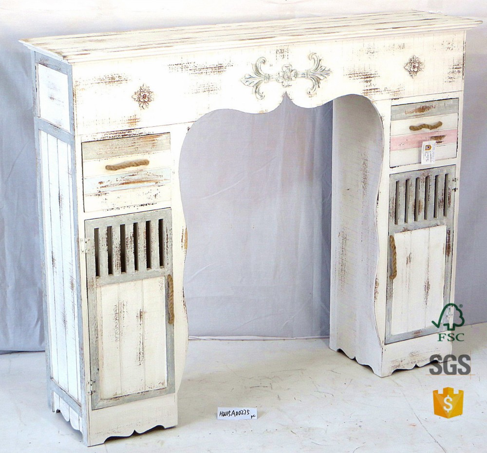 Wholesale Hongwei Handmade White Shabby Chic Vintage Wood
