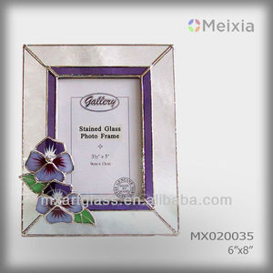 MX020035 tiffany style stained glass antique photo frames wholesale