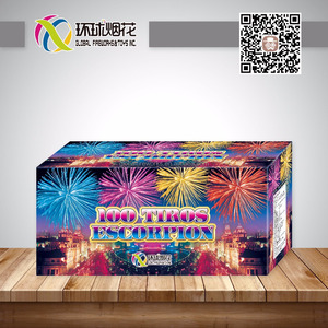 GFCC30100-B 100TIROS ESCORPION 1.4G FIREWORKS CE CLASS F4 UN0336 FOR OUTDOOR HAPINESS CELEBRATION