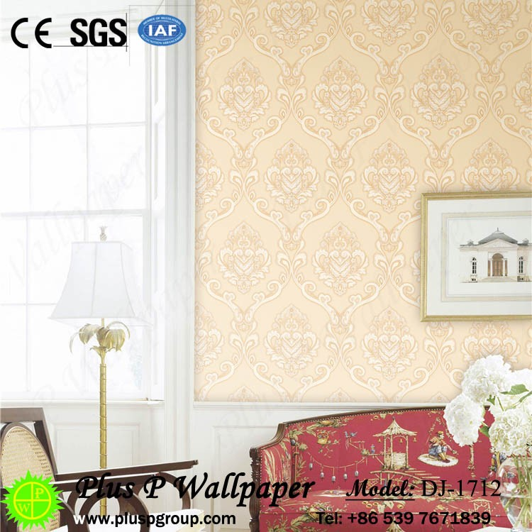 Plus P Hot selling popular beautiful btl pvc wallpaper gm klang