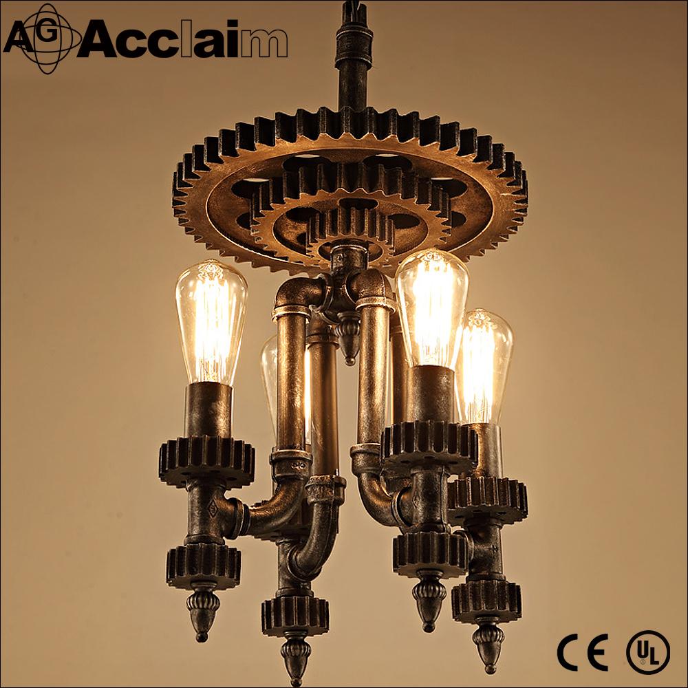 tubera de agua retro desvn vendimia industrial colgante accesorios de iluminacin para