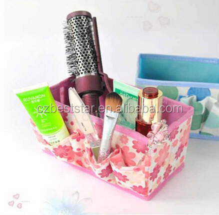 Cosmetic Folding Make Up Storage Box Container Bag Case Stuff Organizer