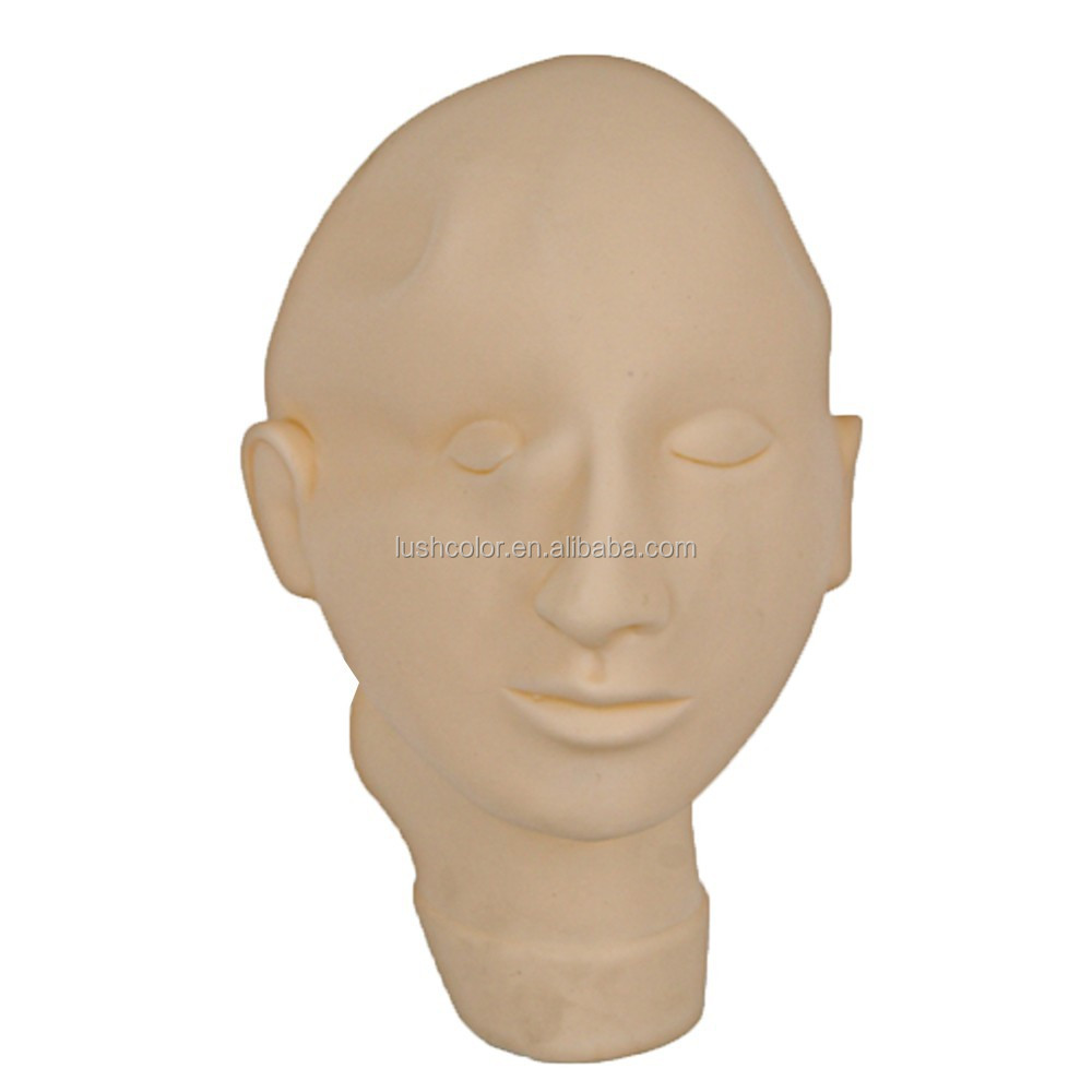 Hot Sell Permanent Makeup Practice <strong>Model</strong> Head , Closed Eyes & Mouth <strong>Model</strong> Head With Top-Grade Quality (CTT002)