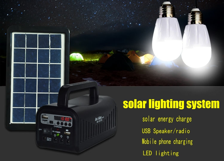 Is-1377s Portable Home Power Solar Energy System With Bluetooth ...