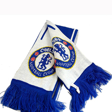 Fashionable Custom Logo Winter Football Fan World Cup Knitted Scarf