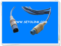 Compatible Spo2 Adapter Cable M1940A,for Philips spo2 extension cable