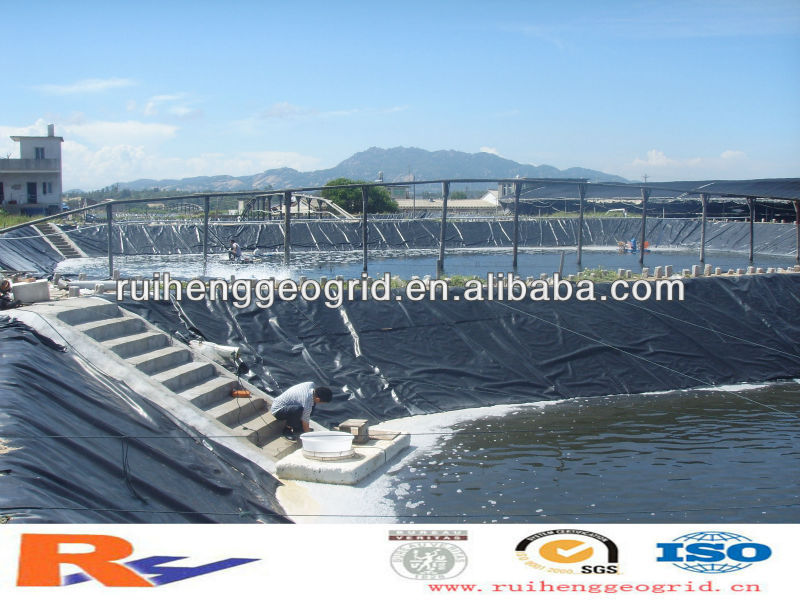 1.0mm HDPE geomembrane liner for fish pool