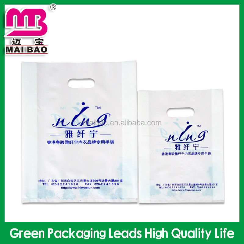 Enviromental material excellent quality shopping plastic bag making machine price die cut bag