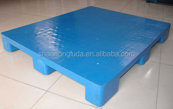 Recycled and steel reinforced double sides euro plastic pallet on sale