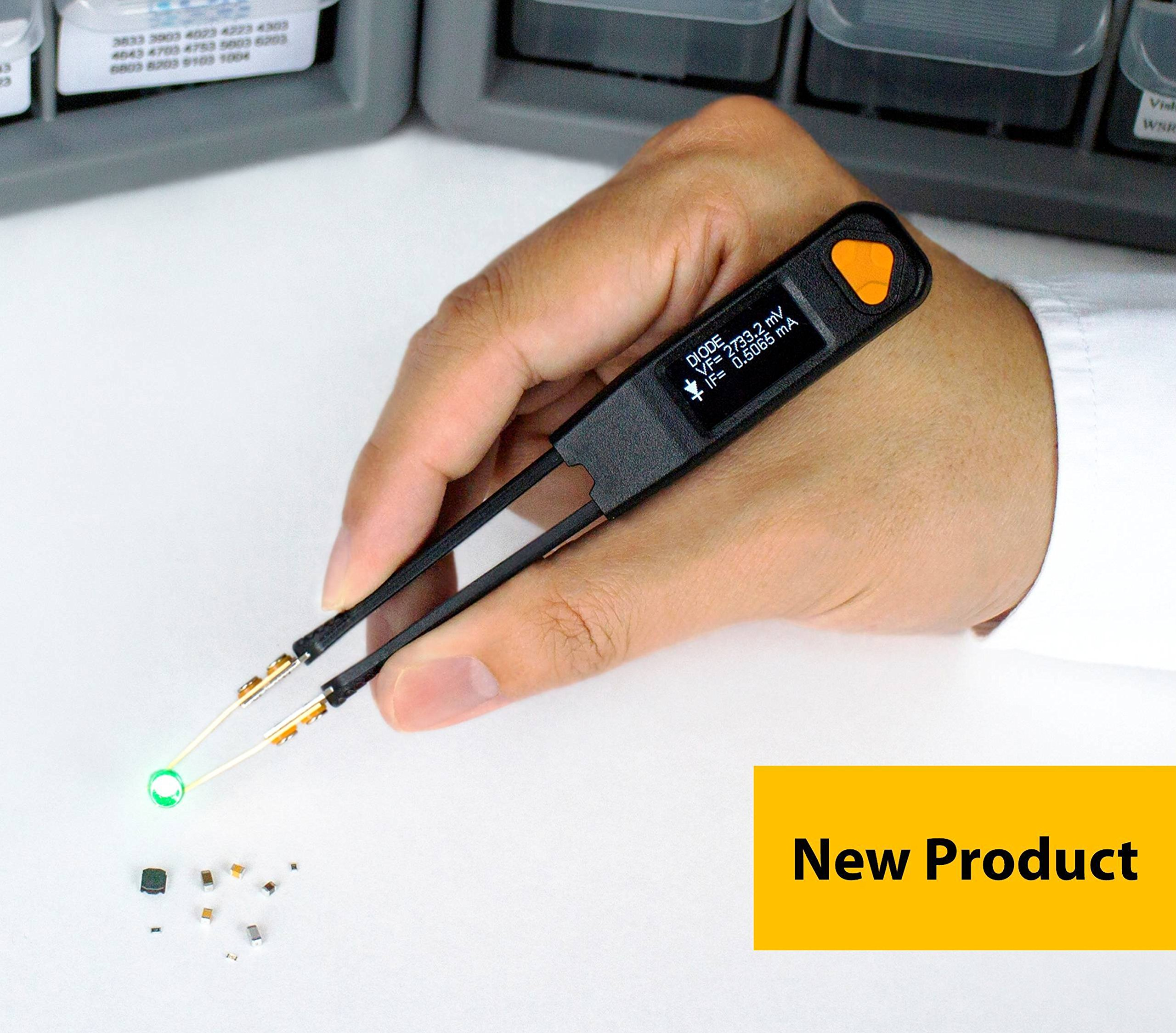 LCR Research Pro1 Plus with Ultra Precise Test Tips - LCR Meter / LED Tester / ESR Meter / Digital Multimeter / SMD Tester / Smart SMD Tweezers / In Circuit Debugger
