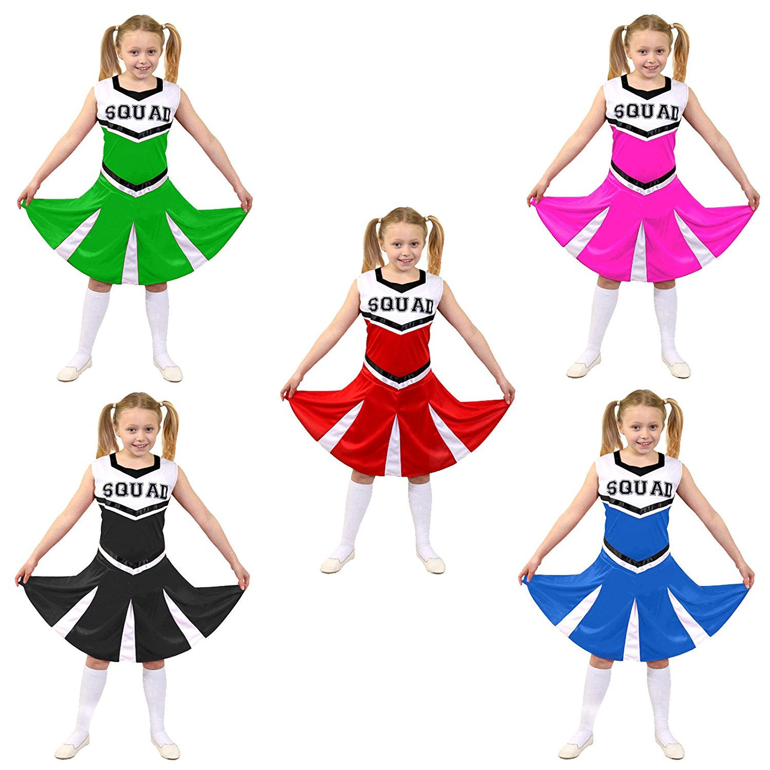 0ba5cb1ab64 Buy Cheerleader Fancy Dress Costume Girls High School Cheer Leader ...