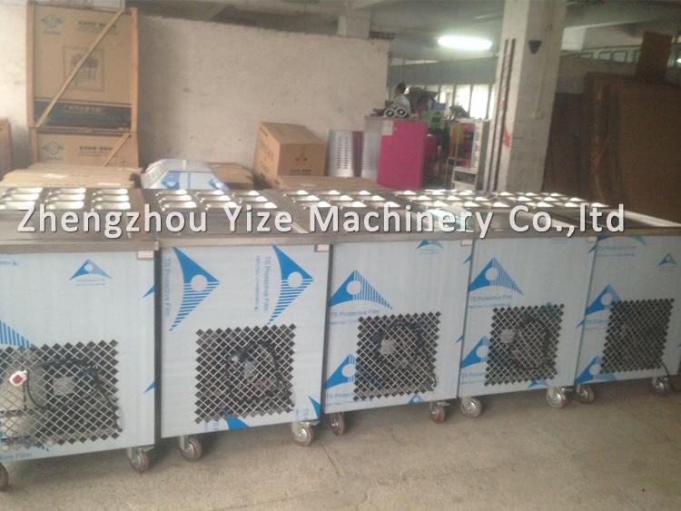 Dry flat pan fried ice cream roll making machine fry ice block dry ice macking block machineice cream fried pan machinery of fry ice cream machine for sale ccuart Image collections