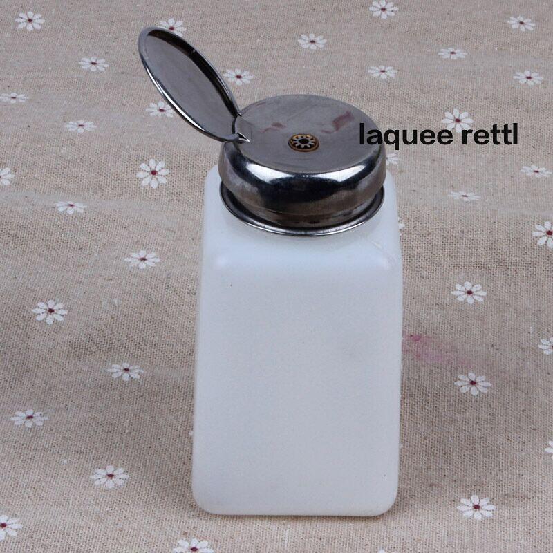 1pcs 200ML Nail art bottle Liquid Alcohol Press Nail Polish Remover Dispenser Pumping Bottle