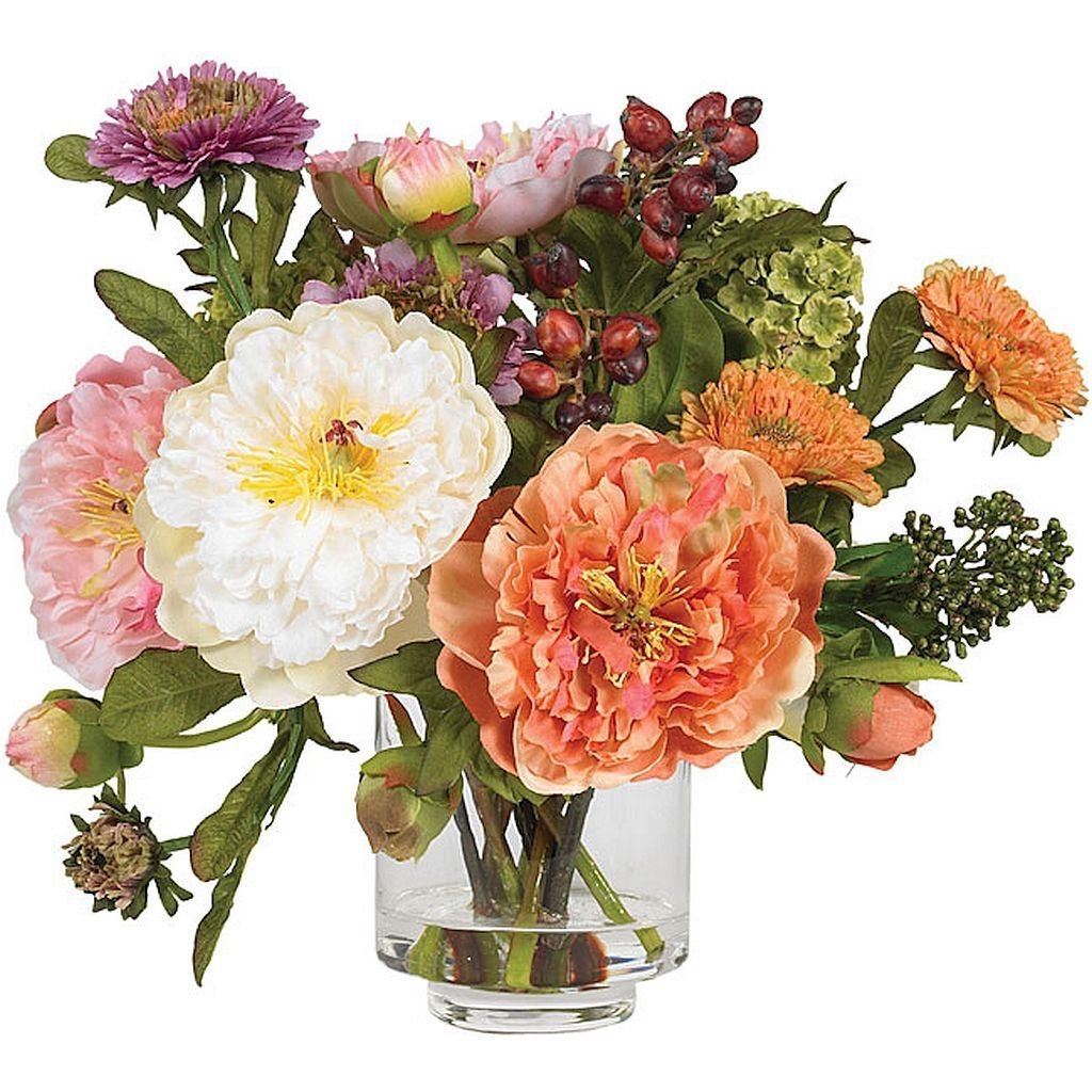 Cheap silk peony arrangement find silk peony arrangement deals on get quotations silk peony flower arrangement this silk plant features several distinct blooms in varying stages of izmirmasajfo
