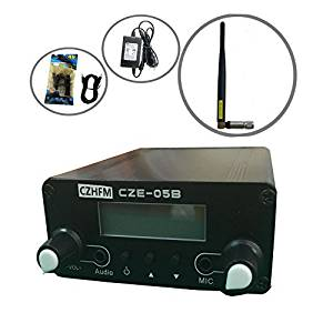 R 0.5 W 05B Dual Mode Long Range Stereo Broadcast Home FM Transmitter with Antenna and Free Audio Cable Black SODIAL