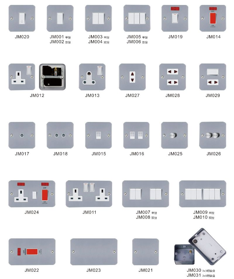 British Type Wall Mount Light Switch Box Air Conditioner