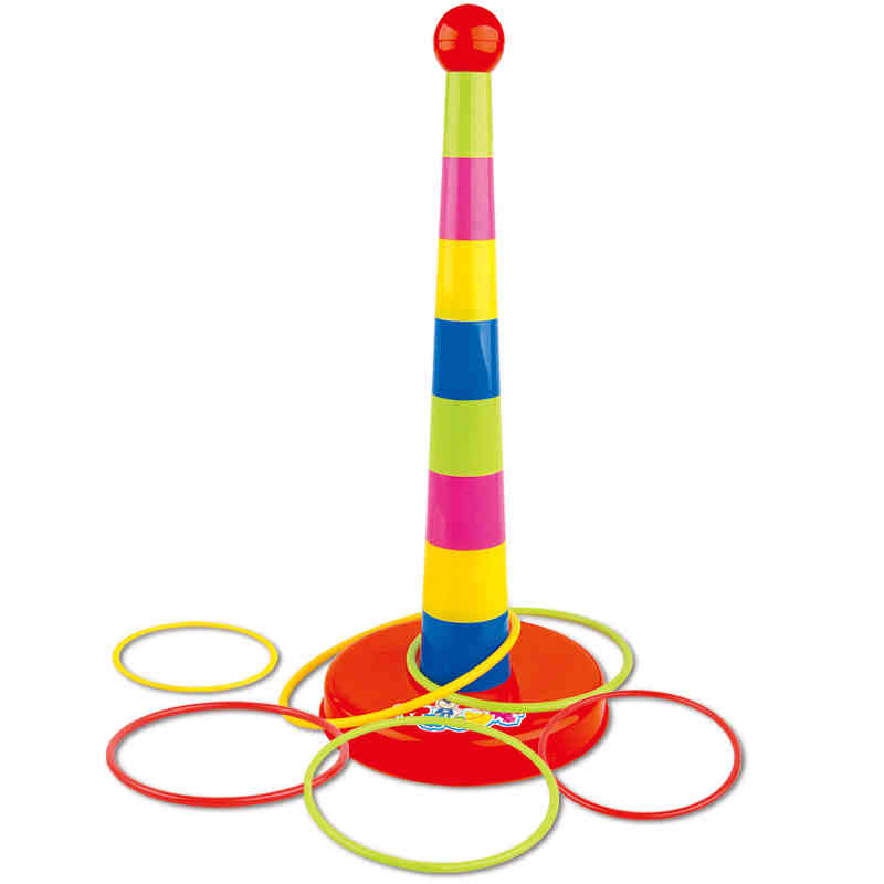 Paternity sports games stacked layers of happy children throwing the ferrule toys nursery toys ferrule