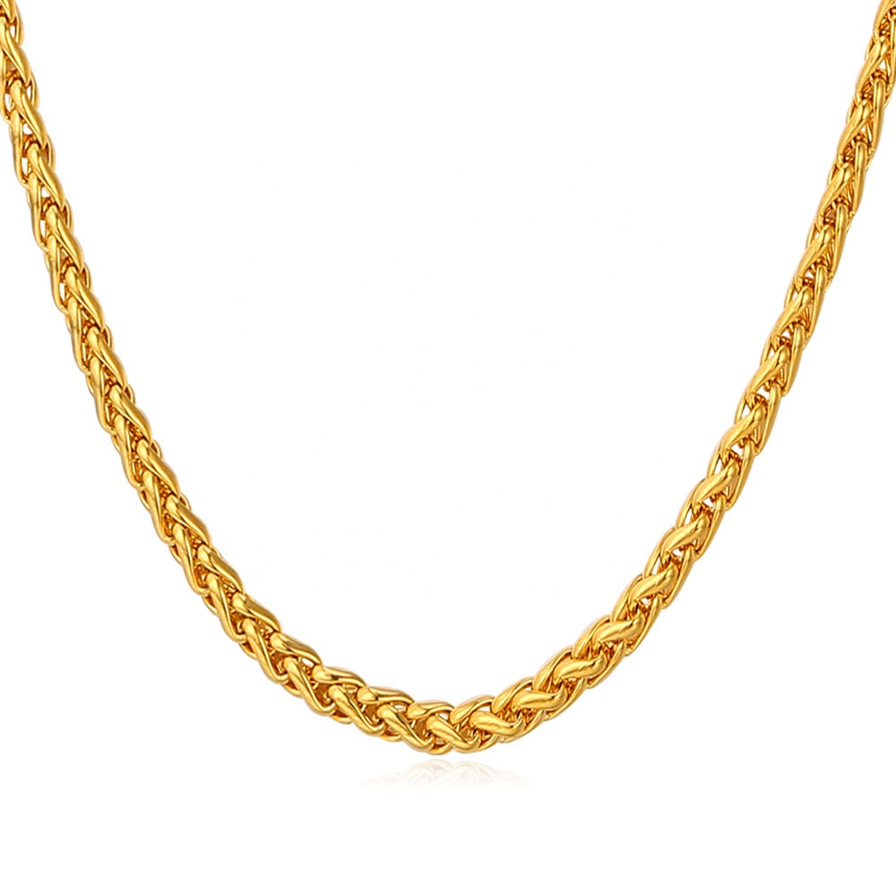 Hollow Gold Chain 10K 14K 18K Solid K gold Customized twisted rope Chain Custom Jewelry Manufacturer
