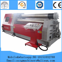 w11S 3 roller hydraulic steel plate rolling machine/hydraulic upper roller universal bending machine