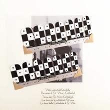 White Black Lattice Nail Arts Sticker 14 pcs set Waterproof Nail Decal Art Sticker Gel Polish