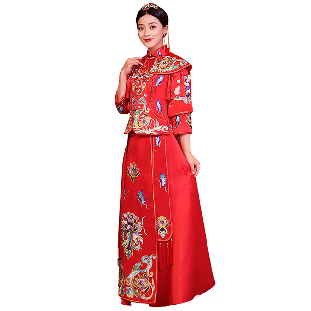 Buy Cheap China embroidered wedding dress red Products, Find China ...