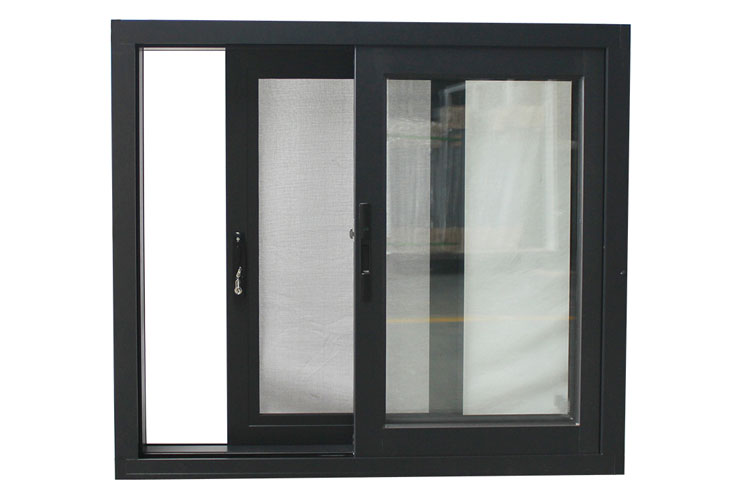 hot sale Aluminum 3 panel sliding window with double glazing glass compy to Australia standard AS2047