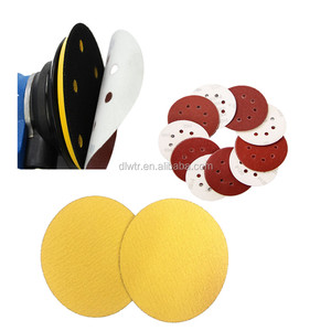 115mm Hook and Loop Sanding Discs 6 Inch, 50 Pack, 5 Holes, P320 Grit, Made of Aluminum Oxide and Back Film