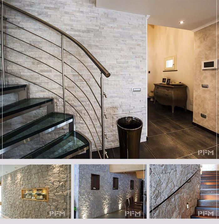 ligero apiladas pared exterior y el interior decoracin chapa de piedra