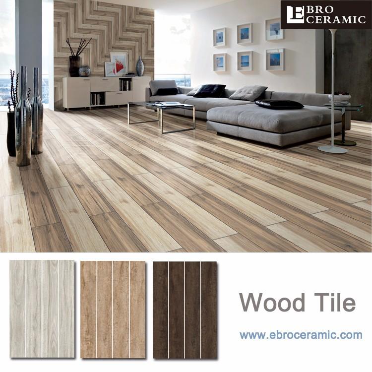 Non-slip Wood Look Porcelain Kajaria Floor Tiles Design ...
