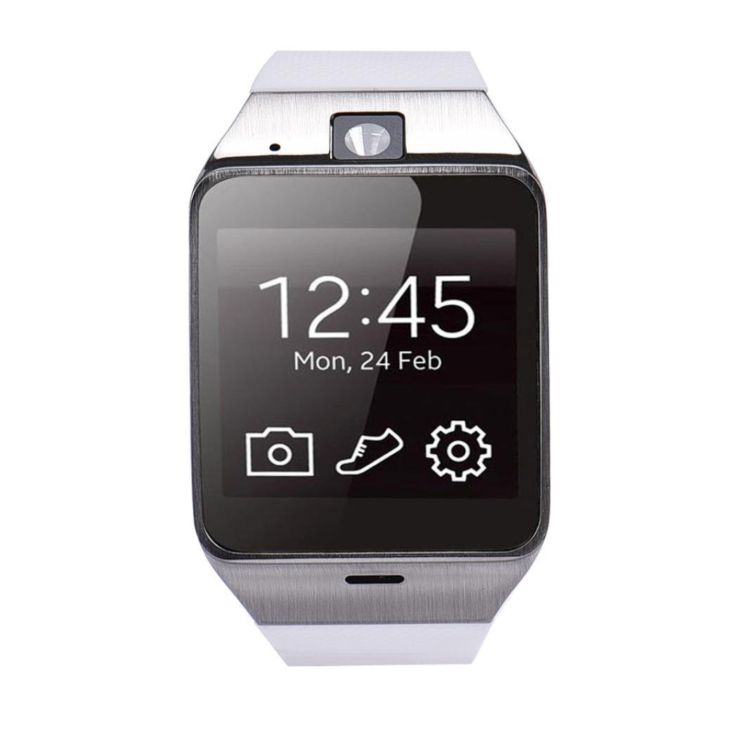 ONEMORES(TM) Aplus GV18 Bluetooth Smart Watch phone GSM NFC Camera Waterproof wristwatch for Samsung iPhone (White)