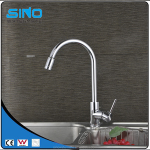 Vertical type kitchen sink tap with shower head