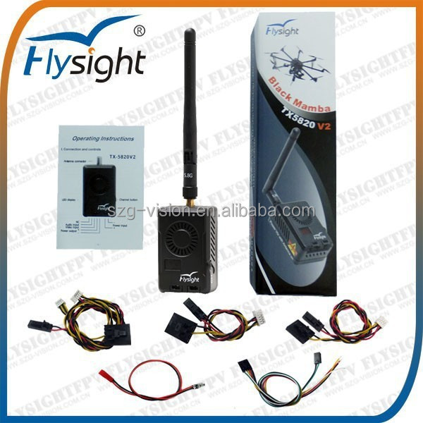 AV201 Flysight New Arrival 5.8GHz 2W FPV A/V Transmitter Black Mamba TX5820V2 for DJI/Walkera/Immersion RC