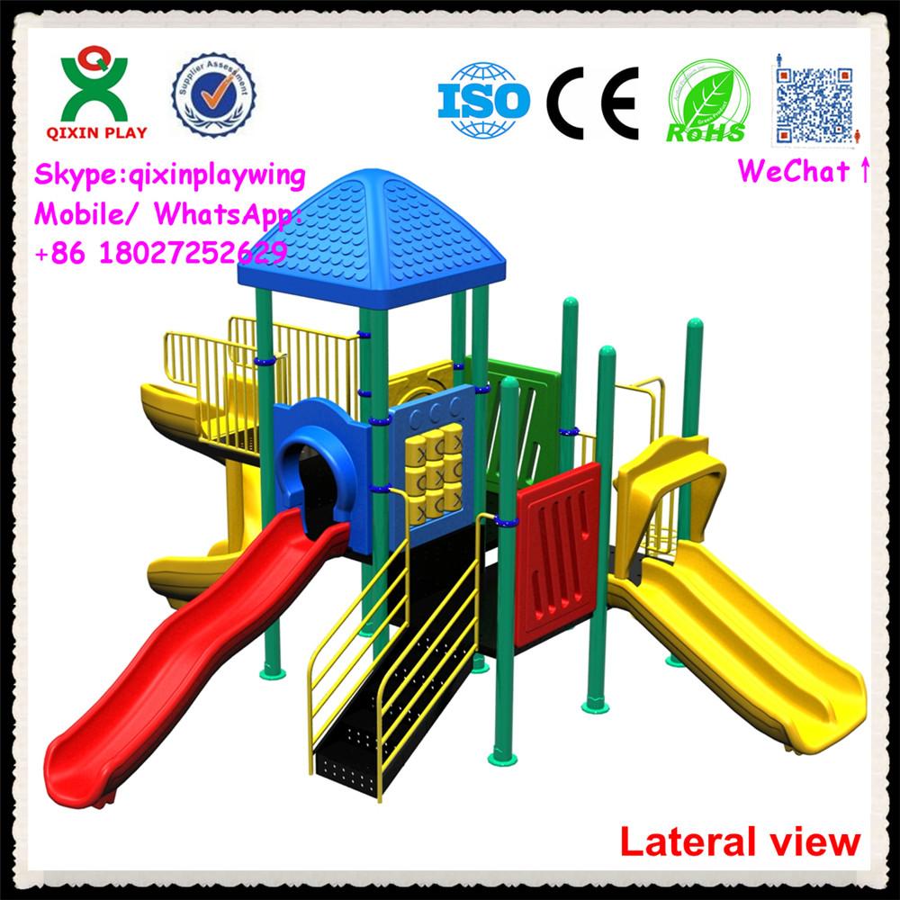 Newest Design Good Material Plastic Playground Slide Kids ...