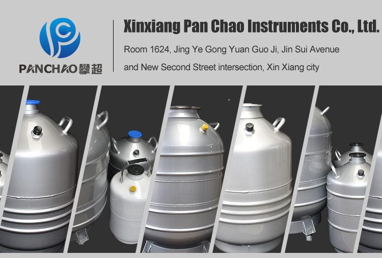 yds dewar vessel liquid nitrogen gas tank 80l bull semen container with plug cover