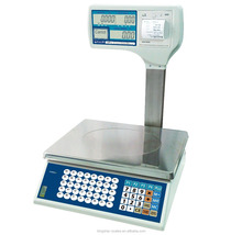 LCD rechargeable battery AC DC power electronic weighing scale digital Pricing printer scale