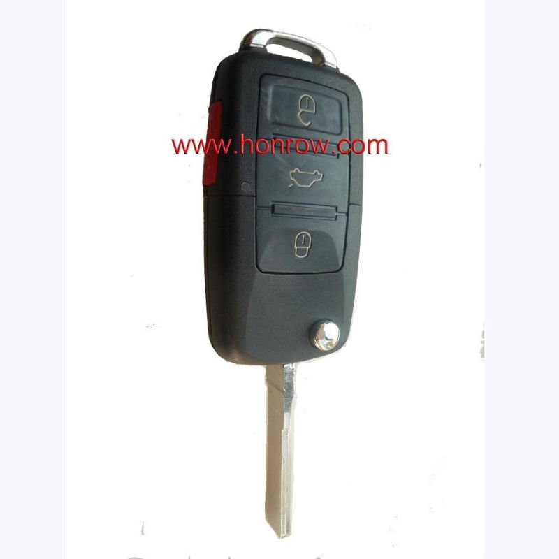 High quality VW remeot key with 3+1 button the remote control number is 1J0 959 753 T 3+1 button/auto key cover/VW key shell