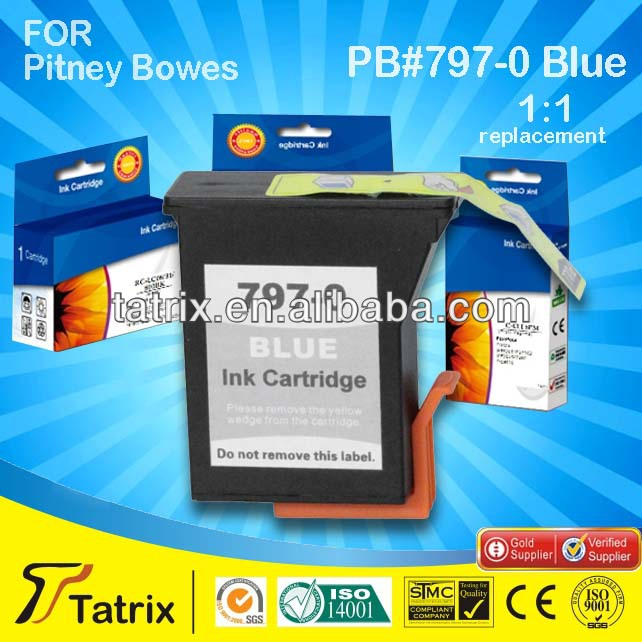 For Pitney Bowes Franking machine ink DM50/DM55/K700 797-0 Blue postage meter cartridge